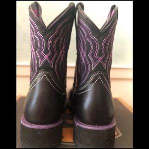 Ariat Shoes - NIB Ariat Ranchbaby II Black & Purple 💜